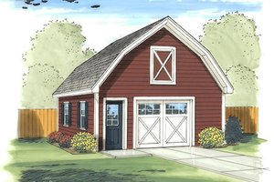 Traditional Exterior - Front Elevation Plan #455-18