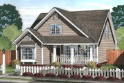 Cottage Style House Plan - 3 Beds 2.5 Baths 1597 Sq/Ft Plan #513-2076 Exterior - Front Elevation