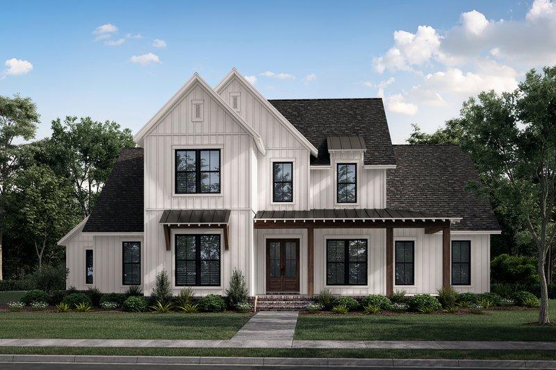 Architectural House Design - Farmhouse Exterior - Front Elevation Plan #430-260