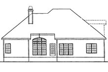 European Exterior - Rear Elevation Plan #927-30