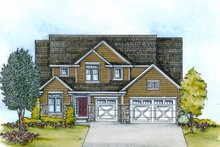 Craftsman Exterior - Front Elevation Plan #20-2114