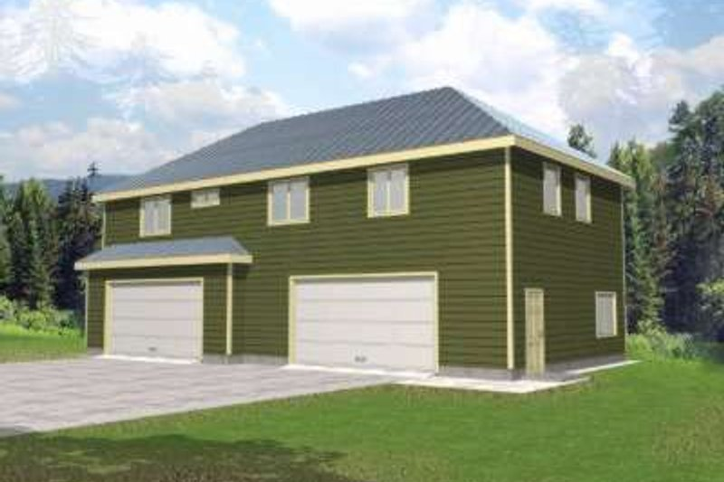 Traditional Exterior - Front Elevation Plan #117-478 - Houseplans.com
