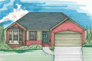 Traditional Exterior - Front Elevation Plan #136-109