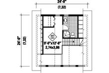 Cabin Floor Plan - Upper Floor Plan Plan #25-4272