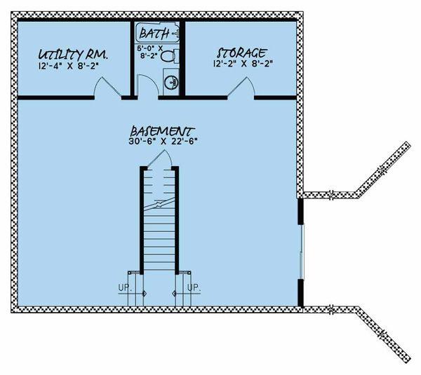 Country Floor Plan - Lower Floor Plan Plan #923-46