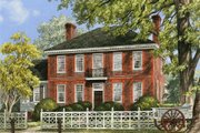 Colonial Style House Plan - 4 Beds 4 Baths 3893 Sq/Ft Plan #137-229 Exterior - Front Elevation