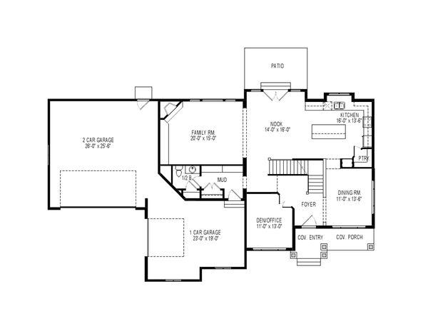 House Plan Design - Traditional Floor Plan - Main Floor Plan #920-76