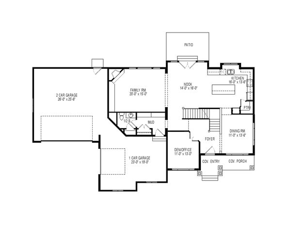 Traditional Floor Plan - Main Floor Plan Plan #920-76