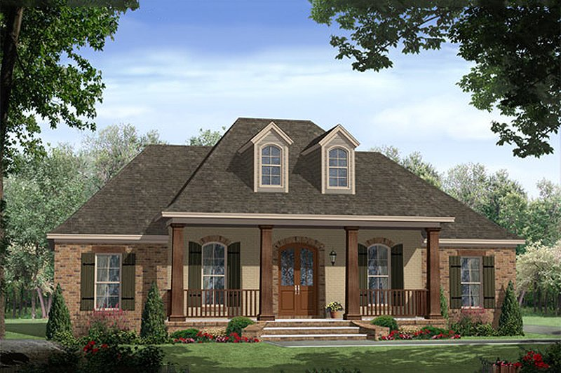 European style Plan 21-264 Front elevation