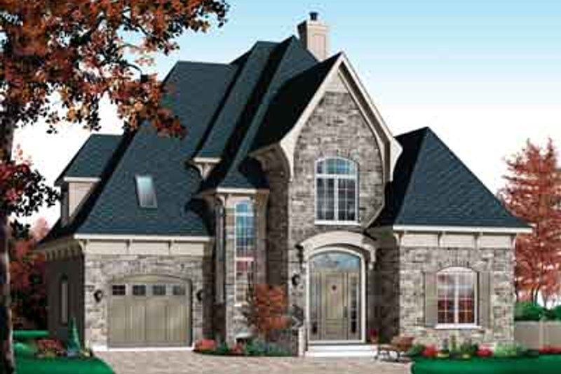 European Exterior - Front Elevation Plan #23-515