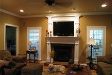 Architectural House Design - Country Interior - Family Room Plan #44-155