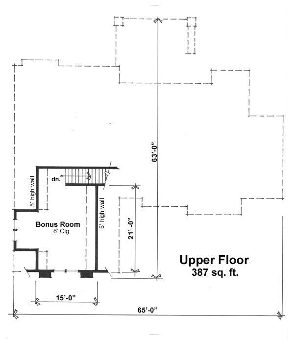 Craftsman Floor Plan - Other Floor Plan #51-523