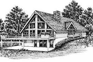 Modern Exterior - Front Elevation Plan #12-116