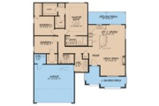 Traditional Style House Plan - 3 Beds 2 Baths 1417 Sq/Ft Plan #923-61 Floor Plan - Main Floor Plan