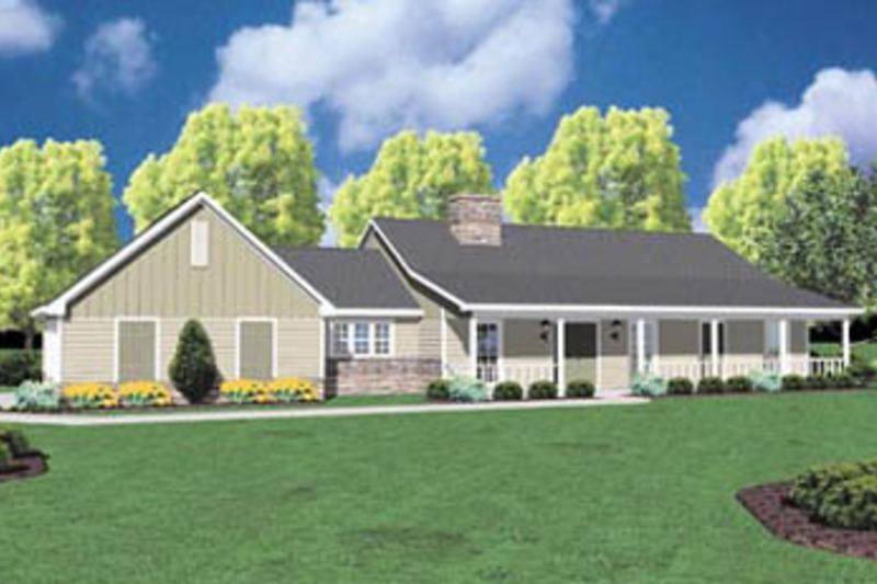 Ranch Exterior - Front Elevation Plan #36-156