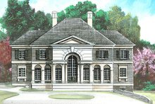 Classical Exterior - Front Elevation Plan #119-270