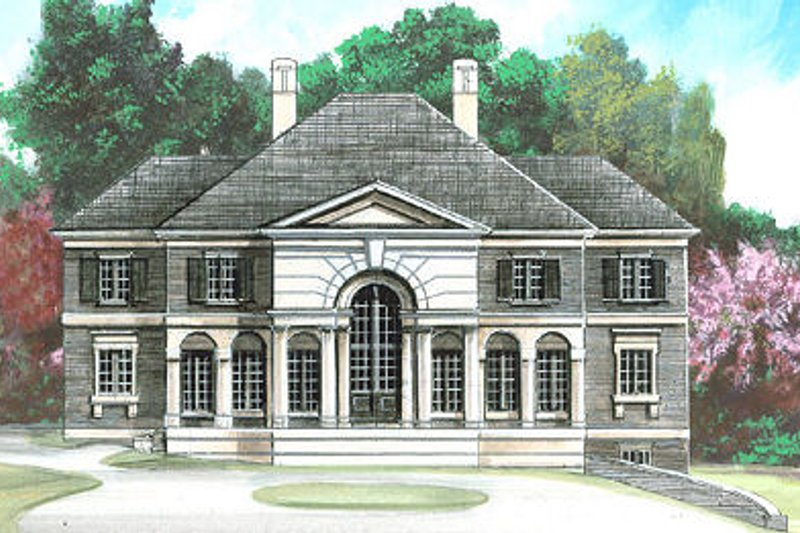 Classical Exterior - Front Elevation Plan #119-270 - Houseplans.com
