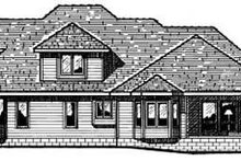Dream House Plan - Traditional Exterior - Rear Elevation Plan #20-1081