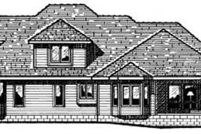 Traditional Exterior - Rear Elevation Plan #20-1081 - Houseplans.com