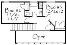 Craftsman Floor Plan - Upper Floor Plan Plan #509-22