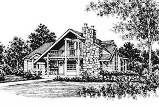Cottage Exterior - Front Elevation Plan #12-107