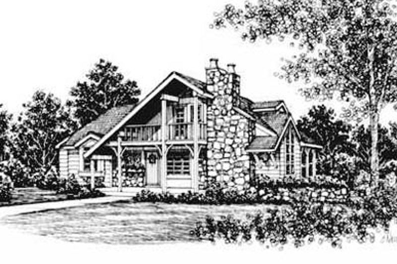 Cottage Style House Plan - 3 Beds 2 Baths 1285 Sq/Ft Plan #12-107 Exterior - Front Elevation