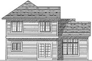Traditional Style House Plan - 3 Beds 2.5 Baths 1550 Sq/Ft Plan #70-146 Exterior - Rear Elevation