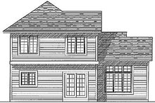 House Plan Design - Traditional Exterior - Rear Elevation Plan #70-146