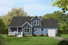 Country Exterior - Front Elevation Plan #932-327