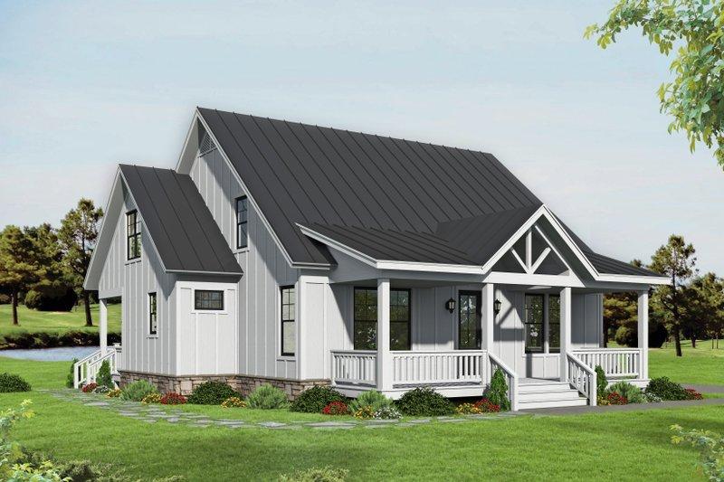 House Plan Design - Farmhouse Exterior - Front Elevation Plan #932-345