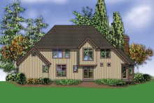 Dream House Plan - Craftsman Exterior - Rear Elevation Plan #48-665