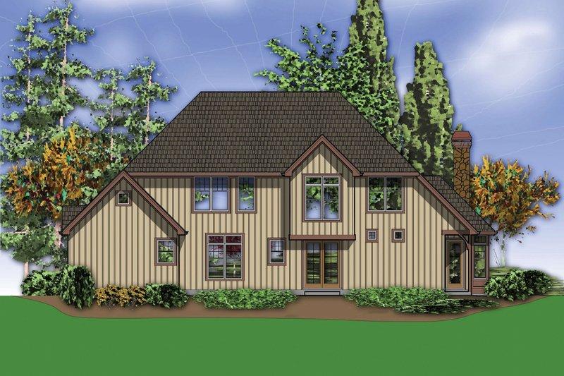 Craftsman Exterior - Rear Elevation Plan #48-665 - Houseplans.com