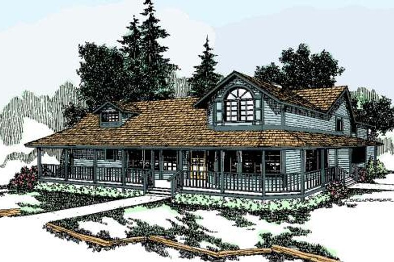 Farmhouse Exterior - Front Elevation Plan #60-130