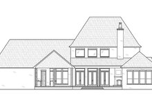 House Plan Design - Modern Exterior - Rear Elevation Plan #1074-41