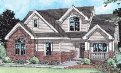 Traditional Exterior - Front Elevation Plan #20-1750 - Houseplans.com