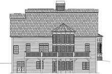 Classical Exterior - Rear Elevation Plan #119-155