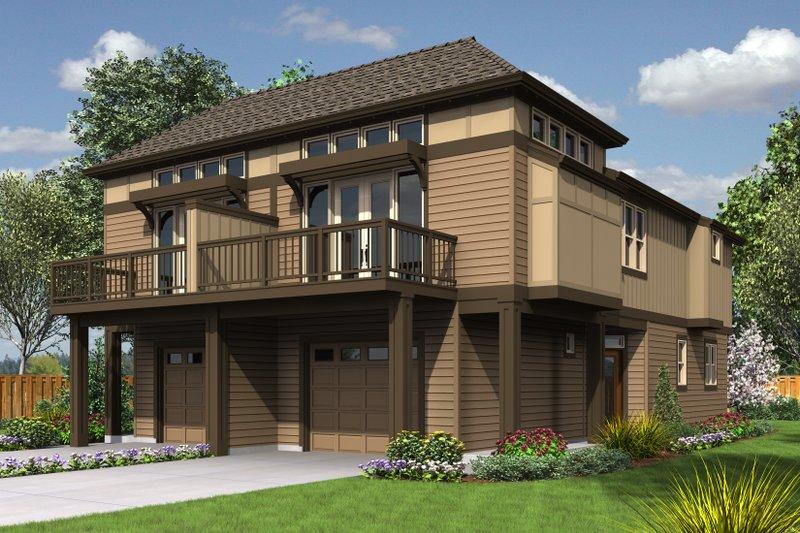 Modern Exterior - Front Elevation Plan #48-628