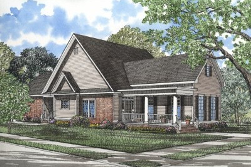 Architectural House Design - Country Exterior - Front Elevation Plan #17-1030