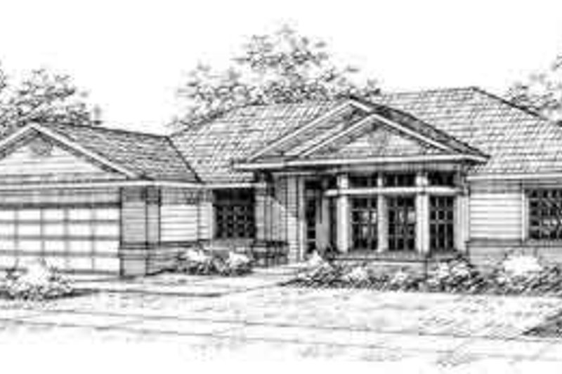 Ranch Exterior - Front Elevation Plan #124-330