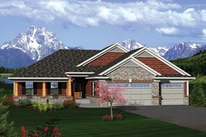 Craftsman Exterior - Front Elevation Plan #70-1087