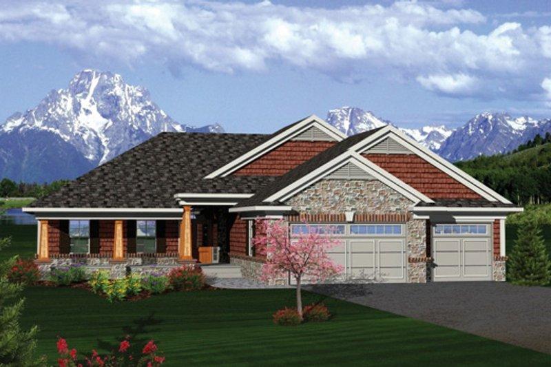 Craftsman Exterior - Front Elevation Plan #70-1087