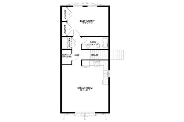 Farmhouse Floor Plan - Upper Floor Plan #1060-82