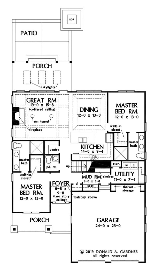 Cottage Floor Plan - Main Floor Plan #929-1104