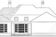 European Style House Plan - 4 Beds 3 Baths 2962 Sq/Ft Plan #406-111 Exterior - Rear Elevation