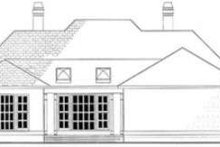 European Exterior - Rear Elevation Plan #406-111