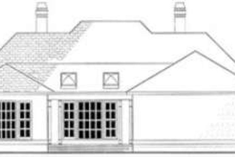 European Exterior - Rear Elevation Plan #406-111 - Houseplans.com