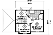 Traditional Style House Plan - 3 Beds 1 Baths 1300 Sq/Ft Plan #25-4788 Floor Plan - Upper Floor Plan