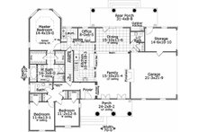 Southern Floor Plan - Main Floor Plan Plan #406-143