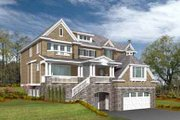 Craftsman Style House Plan - 4 Beds 2.5 Baths 3864 Sq/Ft Plan #132-163 Exterior - Front Elevation