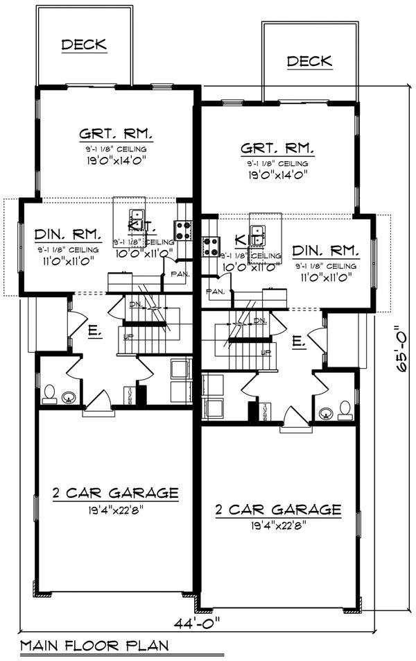 Traditional Floor Plan - Main Floor Plan Plan #70-1474